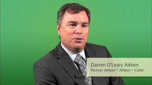 CEO Centerfold - Darren O'Leary Aitken, Partner, Aitken * Aitken * Cohn -  YouTube