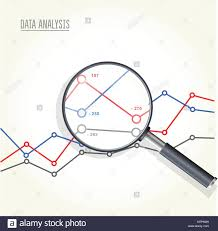 Magnifying Glass Over Charts Data Statisics Research