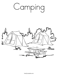 Small Picture Camping Coloring Page Twisty Noodle