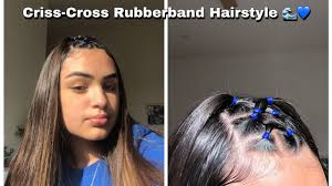 Tagscute hairstyles, easy hairstyles, easy hairstyles for long hair to do at home, easy hairstyles for medium hair step by step, easy hairstyles for school, easy easy and beautiful hairstyles for girls. Youtube Rubber Band Hairstyles Curly Hair Styles Naturally Aesthetic Hair