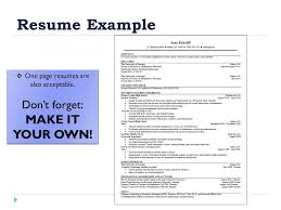 How To Make A One Page Resume How To Create A Winning Resume Presented By Bethany Bagley