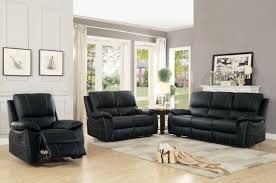 Top Grain Leather Living Room Set Homelegance 8325blk 3 2 1 Greeley Black Top Grain Leather Double