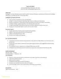 Mechanic Resume Examples Simple Automotive Technician Resume Unique Mechanic Resume Example