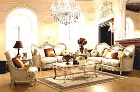 design stunning living room. Classic Victorian Living Room Sofa Set Under Luxury Crystal Chandelier And Wall Sconces Also Big Brown Design Stunning