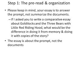 steps in writing a dbq step the pre organization you  3 step