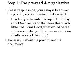 steps in writing a dbq step the pre organization you  3 step
