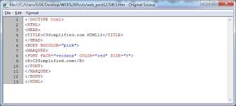 Write HTML code to create Web page display a moving message ...