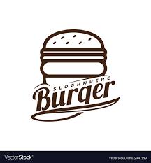 Burger Logo Design Free Food Burger Logo Burger Emblem Design Food Logo