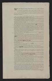 convention and ratification creating the united states draft united states constitution report of the committee of style 8 15 1787 printed document annotations by convention secretary william