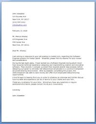 Collection Of Solutions Sample Cover Letter For Software Engineer