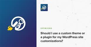 Should I Use A Custom Theme Or A Plugin For My Wordpress