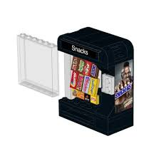 How To Make A Lego Vending Machine Mesmerizing Snack Vending Machine Instructions And Stickers For LEGO™ Home
