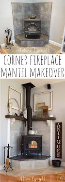 Fireplace Ideas Diy Top 25 Best Corner Fireplace Mantels Ideas On Pinterest Stone