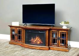 glass ember fireplace tv stand fih fireplace cover