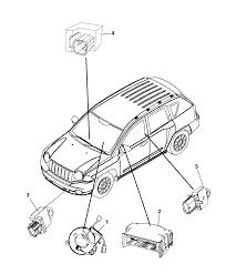 2009 dodge caliber air bag modules impact sensor clock springs diagram i2224194