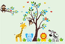 baby room wall decals kids room wall stickers jungle animal wall decals safari on jungle animal wall art with amazon baby room wall decals kids room wall stickers jungle