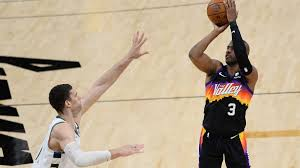 Suns strike first as paul powers phoenix to game 1 victory. Bucks 105 118 Suns Scores Summary Stats Highlights Nba Playoff As Com
