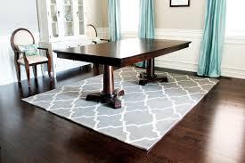rug on carpet dining room