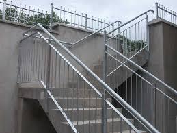steel stair railing. Outdoor-steps-railings Steel Stair Railing