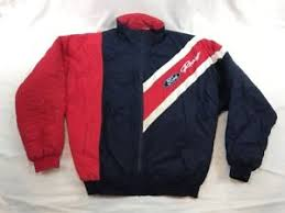Vintage 90's Ford Racing Coat Blue Red Quilted Jacket Men's Size ... & Image is loading Vintage-90-039-s-Ford-Racing-Coat-Blue- Adamdwight.com