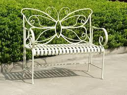 English Iron Garden Bench Traditional Outdoor Benches Other Small Garden Metal Bench