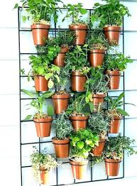 wall hanging pots planters outdoor in comely pockets plant south grid for flower ceramic w