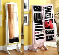 free standing full length mirror jewelry armoire