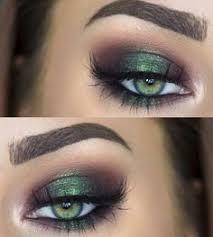 green and purple halo eye metallic emerald green smokey eye makeup