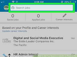 Add Resume To Linkedin Fascinating How To Add Your Resume To LinkedIn On IPhone Or IPad 60 Steps