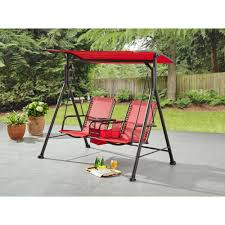 ozark trail big and tall 2 person bungee canopy porch swing com