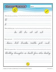 cursive word practice cursive b letter b worksheets for handwriting practice