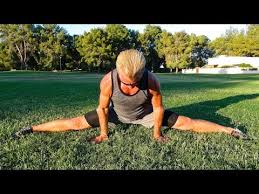 inflexible splits. guy does full split - complete stretching routine for the splits front splits, inflexible