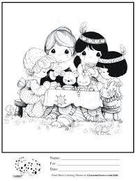 Thanksgiving Indians Coloring Pages Printable Coloring Page For Kids
