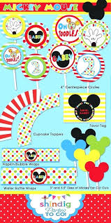 Mickey Mouse Party Printables Free Free Printable Mickey Mouse Food Labels Mickey Mouse Clubhouse Free