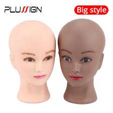 """Plussign 21"""" Female <b>Manikin Head</b> With Clamp No Hair ..."""