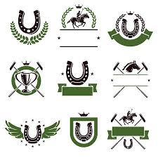 horseshoe game clipart. Delighful Game Horse And Polo Set Vector Throughout Horseshoe Game Clipart W