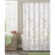 com maytex dragonfly garden semi sheer fabric shower curtain home kitchen