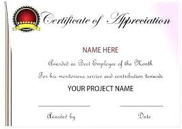 Employee Recognition Certificate Template Certificates