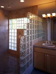pittsburgh corning glass blocks are used in a variety of s in this bathroom
