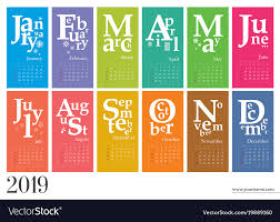 creative calendar. Fine Creative Creative Calendar 2019 Mondays Selected Vector Image For Calendar L