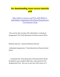 Three Branches Of Government Chart Pol 443 Week 1 Individual Assignment The Three Branches Of
