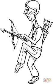 Small Picture Native American with a Bow coloring page Free Printable Coloring