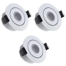 Sensati Small Shallow Miniature Led Downlight Spotlight Flat