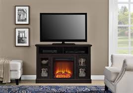 ameriwood furniture chicago electric fireplace tv console for tvs up to a 50 espresso