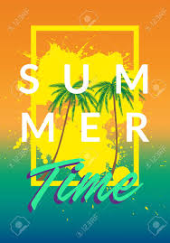 summer tumblr. Standard-Bild - Summer California Tumblr Backgrounds Set With Palms, Sky And Sunset. Placard Poster Flyer Invitation Card. Summertime.