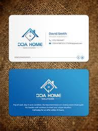 Design Home Solutions Bold Modern Business Business Card Design For Dda Home