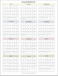 Calendar Blank 2015 Free Printable Academic Calendar For 2015 2016 Www