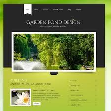 Website Template 40 Garden Pond Design Custom Website Template Best Garden Web Design Design