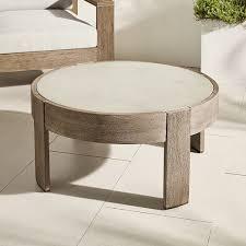 portside outdoor round concrete coffee