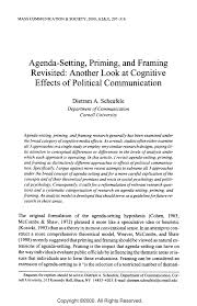 pdf agenda setting priming and framing revisited another look at cognitive effects of political munication